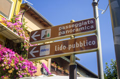 Navigation Signpost in Italy Royalty Free Stock Image