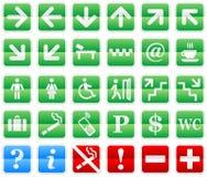 Navigation signs set. Navigation signs set for shopping center Stock Photography