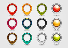 Navigation signs. Set of twelve colorful navigation signs Royalty Free Illustration