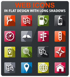 Navigation simply icons Royalty Free Stock Images