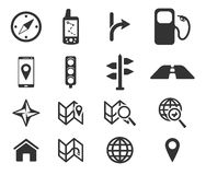 Navigation simply icons Royalty Free Stock Photos
