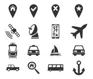 Navigation simply icons Stock Photography