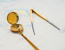Navigation still-life. Royalty Free Stock Photography