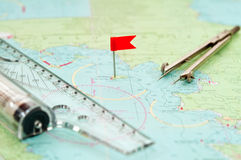 Navigation supplies Stock Images