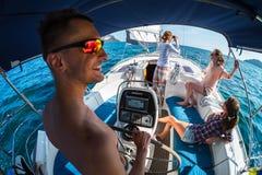 Navigation sur le bateau Photo libre de droits