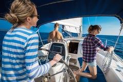 Navigation sur le bateau Images libres de droits