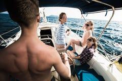 Navigation sur le bateau Photos libres de droits