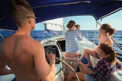 Navigation sur le bateau Images stock
