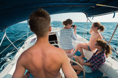 Navigation sur le bateau Photo stock