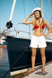 Navigation sur le yacht Photo stock