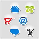 Navigation symbols - web template Stock Image
