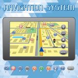 Navigation system for cars and Internet. Vector navigation system for cars and Internet Royalty Free Stock Images