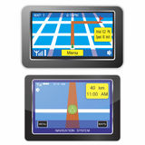 Navigation system devices. Isolated on white background Royalty Free Stock Photo