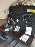 Navigation system on old fighter plane Royalty Free Stock Photo