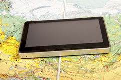 Navigation system and road map Stock Images