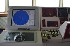 Navigation system of a ship Royalty Free Stock Photo