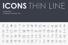 Navigation Thin Line Icons Royalty Free Stock Image