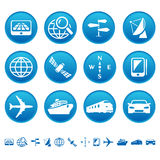 Navigation & transport icons Stock Photos