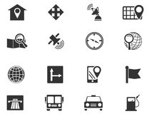Navigation and transport icons set. Navigation simply icons for web and user interfaces Stock Photography