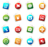 Navigation and transport icons set. Navigation vector icons for web sites and user interfaces Stock Photo
