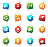 Navigation and transport icons set. Navigation vector icons for web sites and user interfaces Royalty Free Stock Image