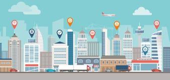 Navigation urbaine illustration stock