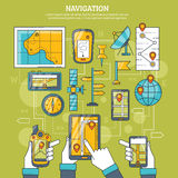 Navigation Vector Illustration Stock Photography