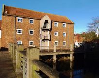 Navigation warehouse. Old warehouse beside the canal in Louth Lincolnshire Stock Image