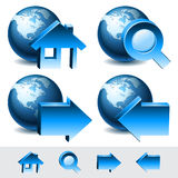 Navigation web icons Stock Photo
