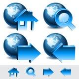 Navigation web icons. Set of navigation web icons. Home, forward, search, back. Vector Stock Photo