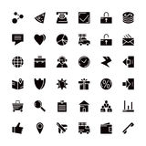 Navigation web store and business icons Royalty Free Stock Image