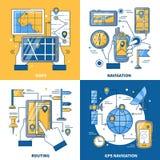 Navigation 2x2 Design Concept Royalty Free Stock Photos