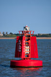 Navigational buoy Guard, English East Coast, UK Royalty Free Stock Photo
