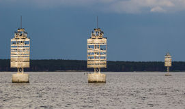 A navigational buoy Stock Photo