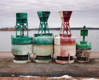 Navigational buoys Royalty Free Stock Images