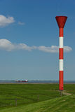 Navigational light at the dyke of the river Elbe Royalty Free Stock Photography