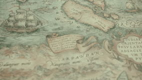 A navigational map with the island of Cardandan stock video