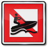 Navigational mark ban for  water crafts Royalty Free Stock Photo