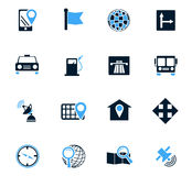 Navigations icon set. Navigation icon set for web sites and user interface Stock Photos
