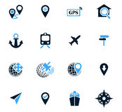 Navigations icon set. Navigation icon set for web sites and user interface Royalty Free Stock Photography
