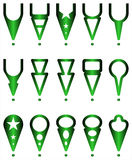 Navigations icons - Illustration Royalty Free Stock Images
