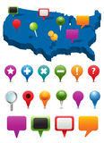 Navigations-Ikonen Lizenzfreie Stockbilder