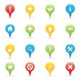 Navigations-Ikonen Lizenzfreie Stockfotos