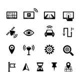 Navigations-Ikonensatz Lizenzfreies Stockbild