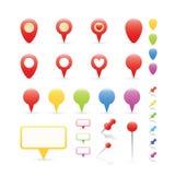 Navigations-Markierungen eingestellt Stockfoto