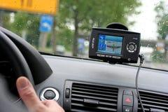 navigations- system för bilgps Royaltyfri Fotografi
