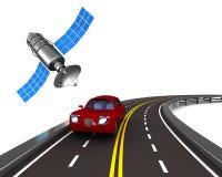 Navigationsanlage auf weißem Hintergrund Lokalisierte Illustration 3d Lizenzfreie Stockfotos