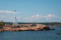 Navigationshilfe im schwedischen Archipel lizenzfreies stockfoto
