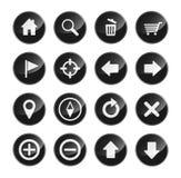 Navigationsikone eingestellt für Websiteschnittstelle Stockbilder