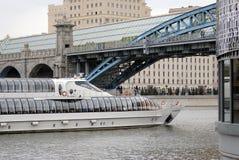 Navigationsjahreszeitöffnung in Moskau Stockfoto